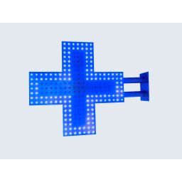 Lichtreclame LED kruis veterinaire 50x50 basis