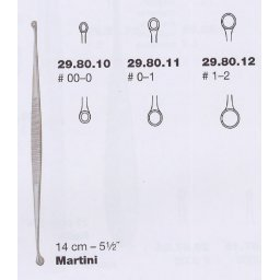 Curette martini rond